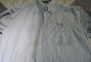 Old One pocket shirt, Prior to Addition of Second Pocket